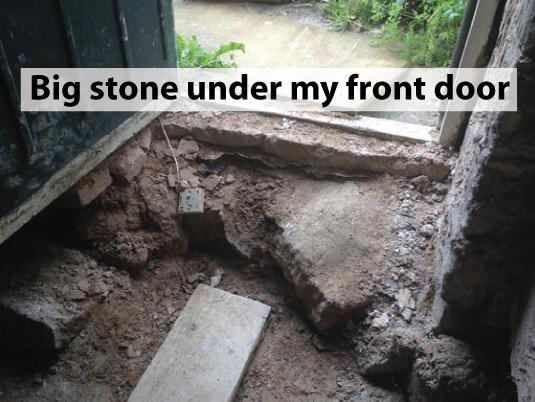 Stone-Under-Front-Door